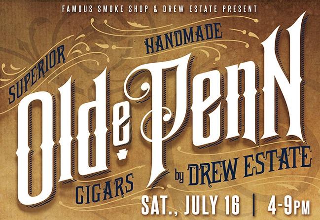 Cigar News: Famous Smoke Shop & Drew Estate Debut Olde Penn Cigars at Leaf
