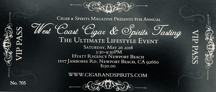 Contest: Cigar & Spirits 8th Annual West Coast Tasting Event Ticket Giveaway