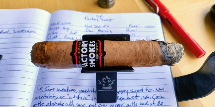 Team Cigar Review: Factory Smokes Sweets by Drew Estate Toro