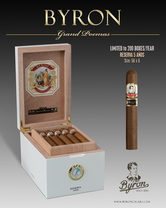 Cigar News: Byron Releases 19th Century Grand Poemas