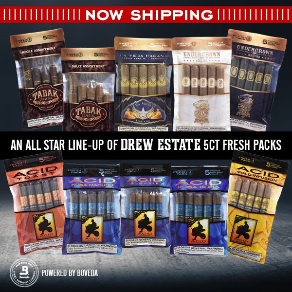 Cigar News: Drew Estate Begins Shipping Humidified 5-Packs