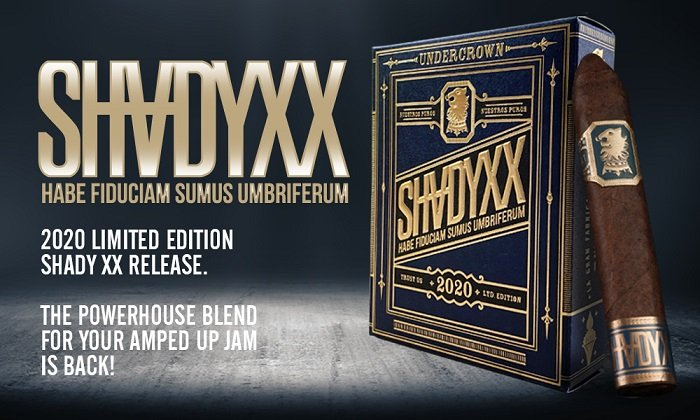 Cigar News: Undercrown ShadyXX Returns for 2020 Limited Release