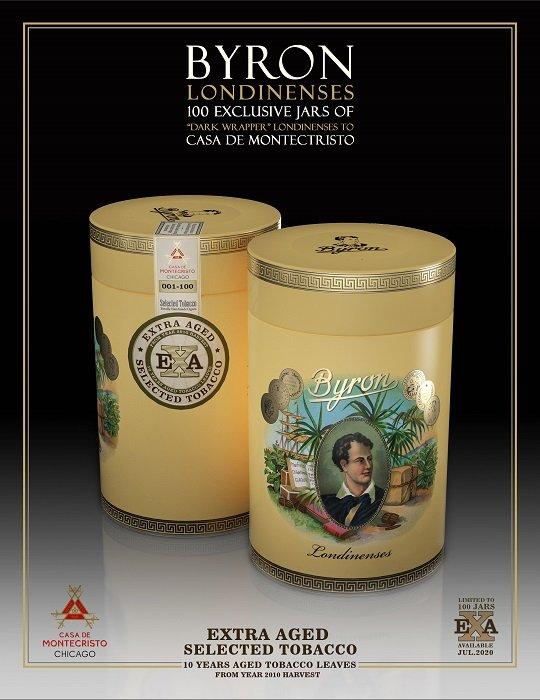 Cigar News: Byron Dark Wrapper Londinenses to be Casa de Montecristo Exclusive