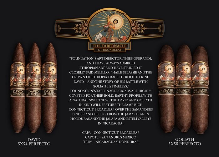 Cigar News: Foundation Tabernacle Gains David and Goliath Perfecto Line Extensions