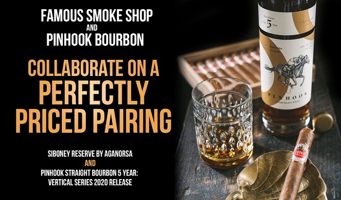 Cigar News: Pinhook Bourbon and Famous Smoke Shop Collaborate on a Perfect Pairing